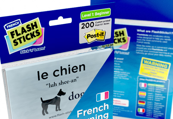 FLASHSTICKS - FRENCH PACKAGING DESIGN