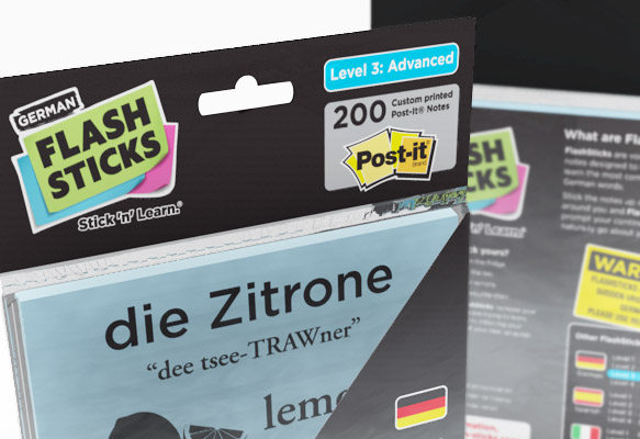 FLASHSTICKS - GERMAN PACKAGING DESIGN