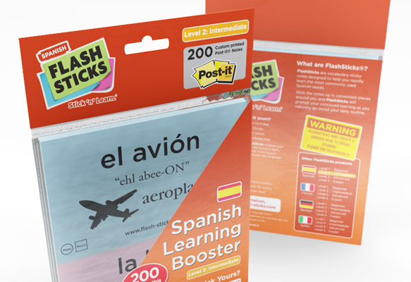 FLASHSTICKS - SPANISH PACKAGING DESIGN