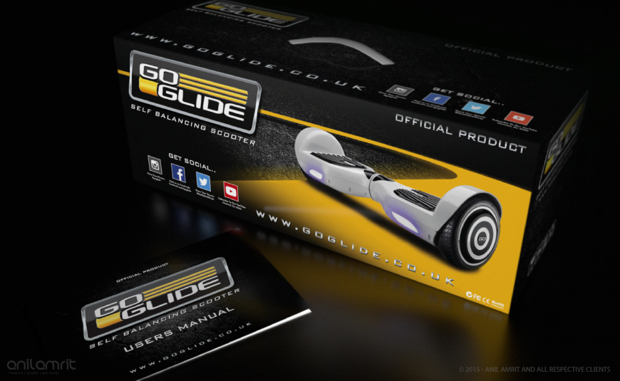 TOYS & GADGETS - GO GLIDE BRANDING & PACKAGING DESIGN SUITE