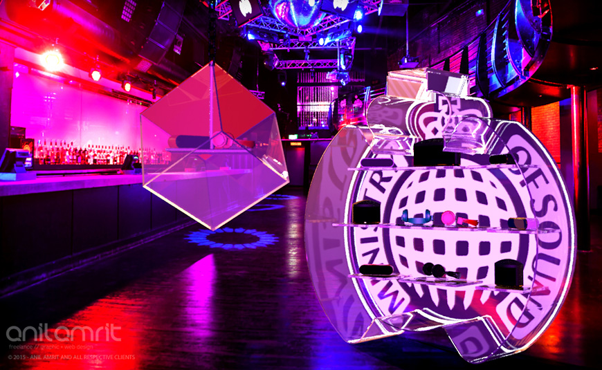 MINISTRY OF SOUND POS DISPLAY STAND DESIGN