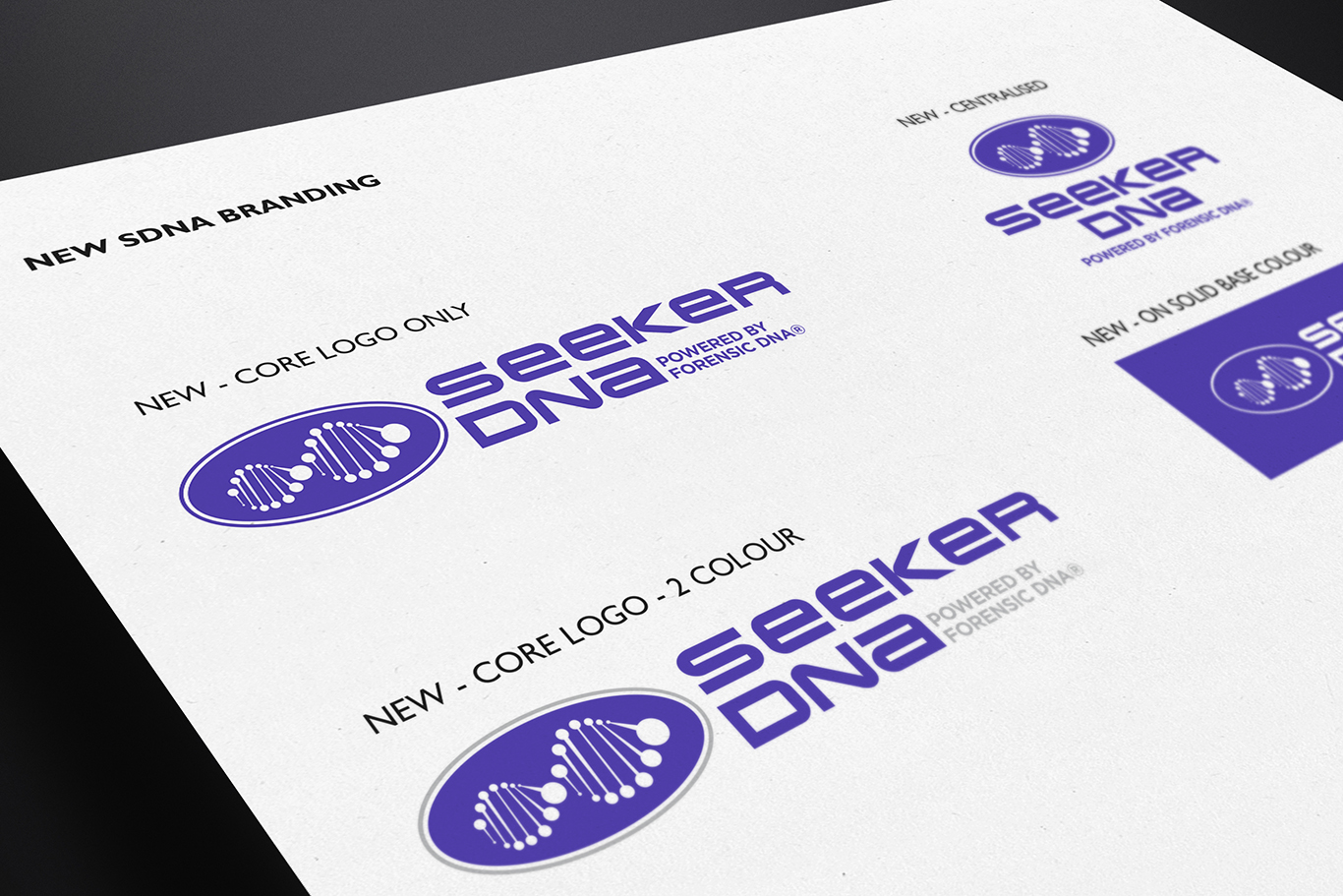 SEEKER DNA BRANDING & PACKAGING DESIGN